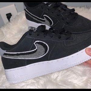 Black Nike Air Force 1s